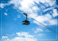 Gondola of the cable car to the mountain Saentis in the Appenzell Alps of Switerland