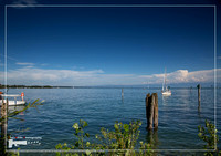Landscape of the Lake Constance or Bodensee in Germany