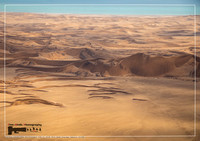 Aerial picture of the landscape of the Namib Desert and the Atlantic Ocean on the Skeleton Coast in western Namibia
