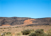 Landscape in the Khomas highlands in Namibia