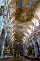 Inside a church in the old town of Regensburg in Bavaria Germany