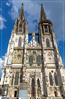 Picture of a church in the old town of Regensburg in Bavaria Germany